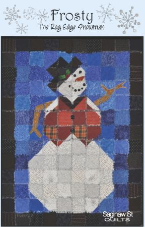 "Frosty the ""Rag Edge"" Snowman - P319"